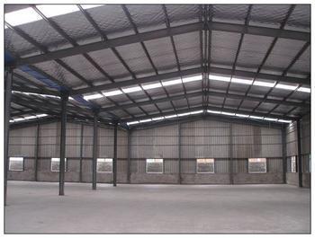 钢结构厂房内部